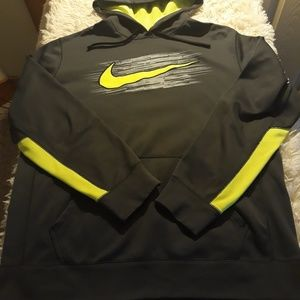 Nike therma fit pullover L gray green men